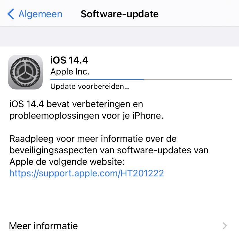 iOS 14.4 update, dicht belangrijke beveiligingslekken.